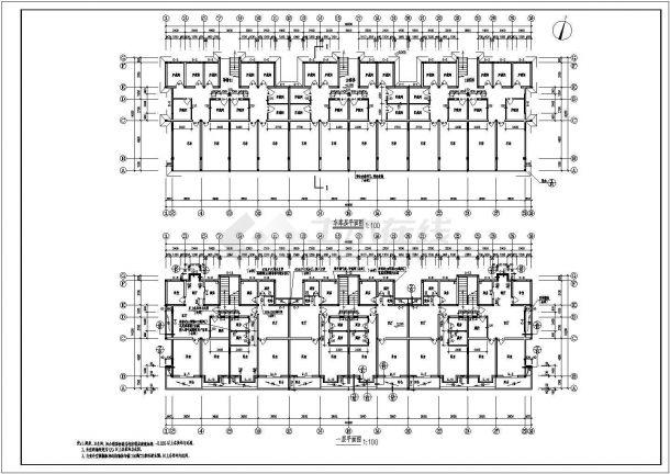 多层单身公寓建筑设计施工图-图二