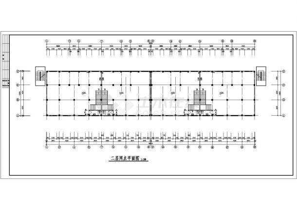 某工厂宿舍全套建筑设计施工图-图一