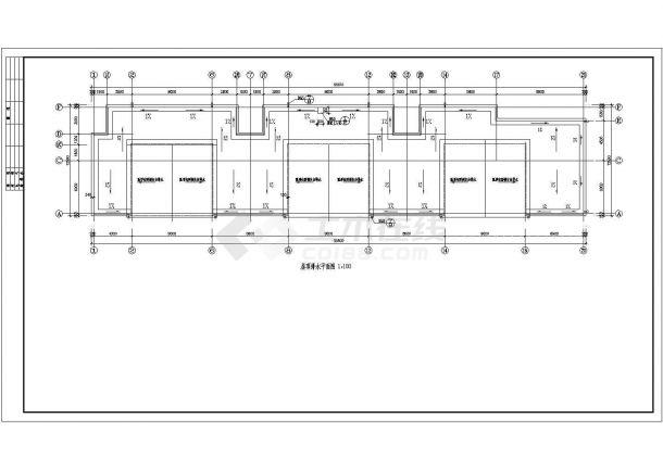底商住宅楼全套建筑设计方案图-图一