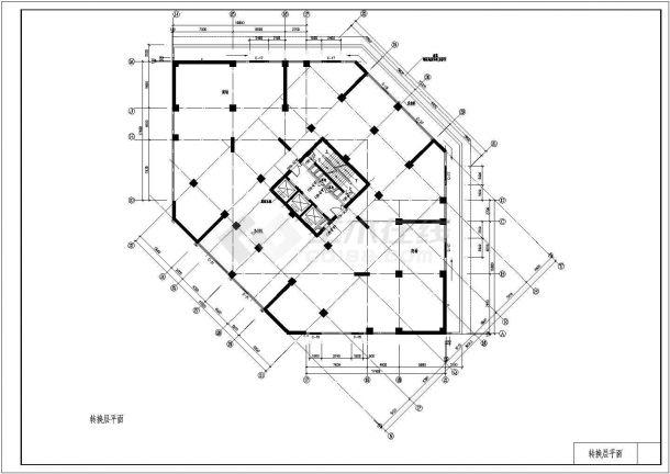 东方神韵高层住宅建筑设计施工图-图一