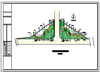 水南路某路口绿化方案设计cad图纸-图二