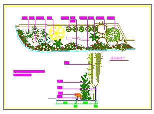 某公园绿化组团cad设计详图-图一