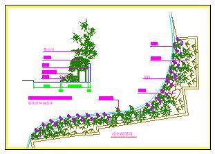 某公园绿化组团cad设计详图-图二