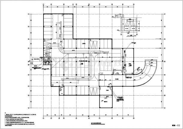 浙江省绍兴市某影院空调系统cad设计图纸-图一