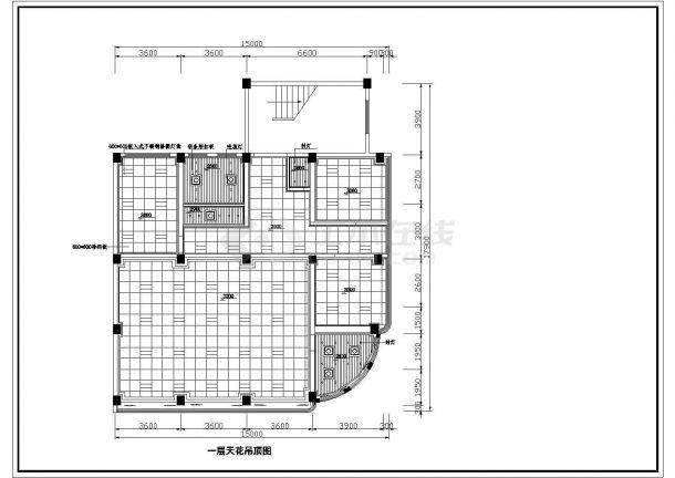 江苏省无锡市某住宅室内装修设计cad平面图(含效果图)-图一