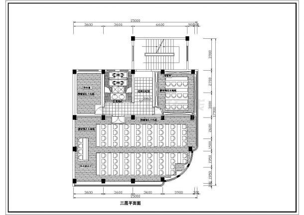 江苏省无锡市某住宅室内装修设计cad平面图(含效果图)-图二