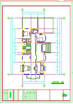 某地区三层别墅建筑设计cad施工图纸带效果图-图一