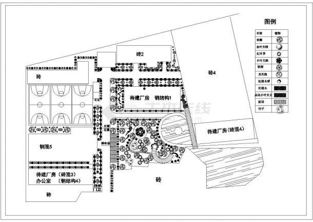 某科技公司绿化CAD景观设计完整方案-图一