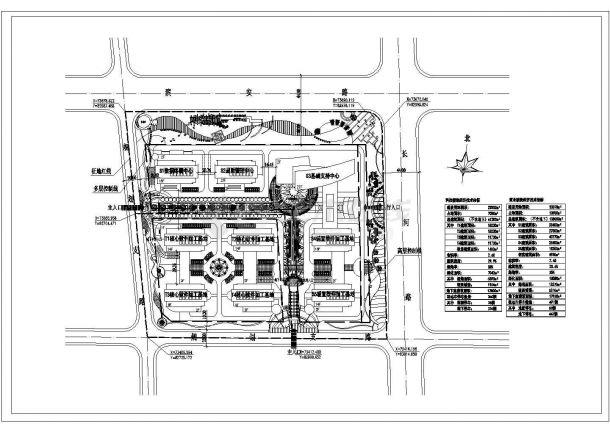 某厂区规划绿化CAD景观设计总平面图-图一