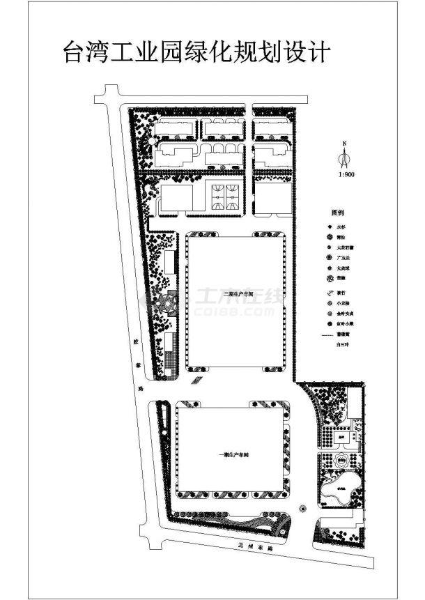 某工业园绿化规划CAD详细景观设计图-图一