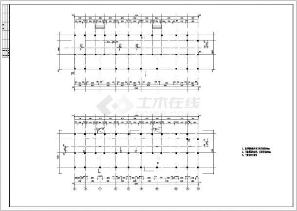 信阳市昆锦花园小区2700平米5层框架结构住宅楼建筑结构设计CAD图纸-图一