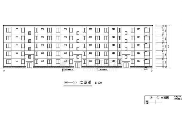 辽阳市福苑花园小区3410平米5层框架结构住宅楼建筑结构设计CAD图纸-图一