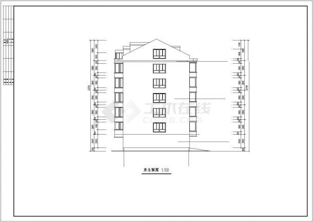 河口市某小区2540平5层框架结构住宅楼建筑结构设计CAD图纸(含阁楼)-图一