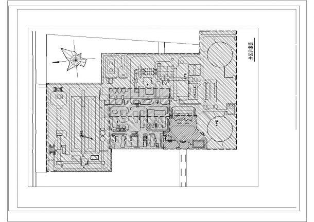 河南某发电厂景观设计CAD施工图总平面及分区示意图-图一