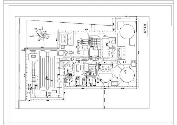 河南某发电厂景观设计CAD施工图总平面及分区示意图-图二