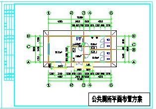 1层62.73平米小型公厕建筑方案设计图(20.7平米为办公室)-图一