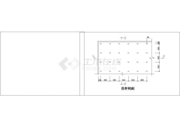某大型垃圾分类厂全套轻钢龙骨吊顶详图(含直线转角节点大样图)-图二