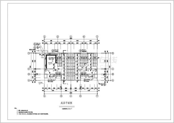 攀枝花1层159平米公共厕所建筑设计全套施工cad图-图一