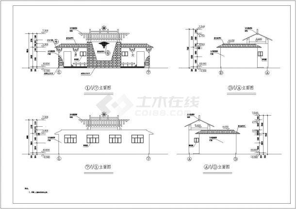 攀枝花1层159平米公共厕所建筑设计全套施工cad图-图二