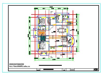 某地经典别墅建筑施工cad设计图带效果图-图一