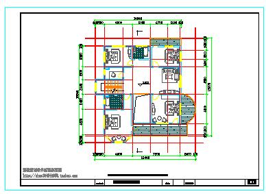 某地经典别墅建筑施工cad设计图带效果图-图二