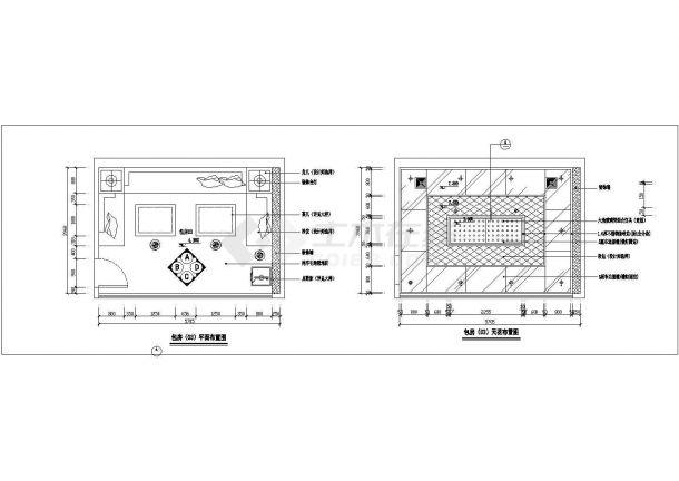 丽江酒吧包房装饰详细设计全套施工cad图-图一