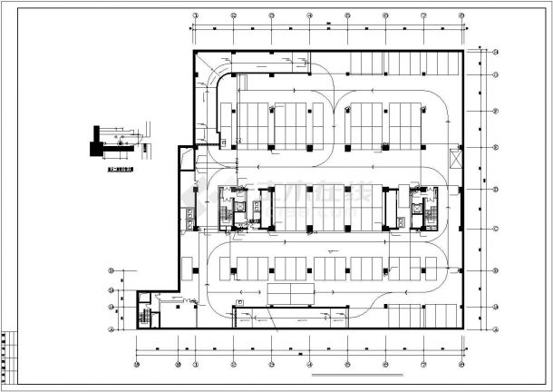 南方某高层办公楼建筑给排水cad图纸详图-图一