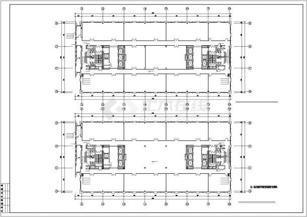 南方某高层办公楼建筑给排水cad图纸详图-图二