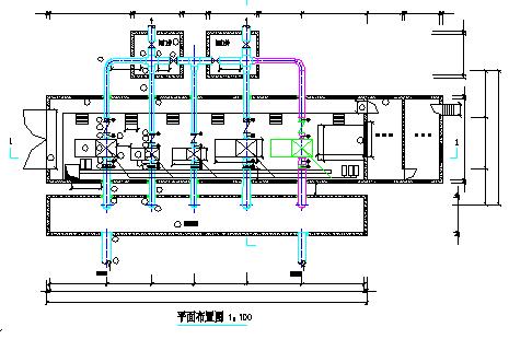 长春某水厂给水泵站平面图纸-图二