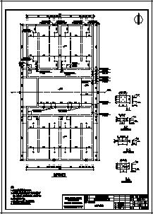 清水池设计_某单层现浇钢筋混凝土结构自来水厂清水池结构施工cad图纸-图一