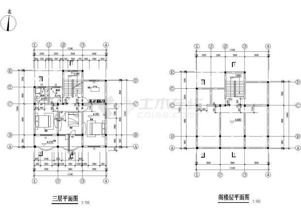 【昆山】某地郊区多层农居房全套建筑设计施工图-图二
