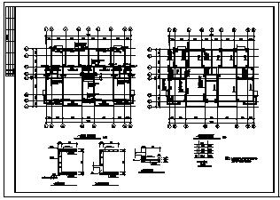 住宅楼设计_某三层异形框架结构住宅楼结构施工cad图纸-图二