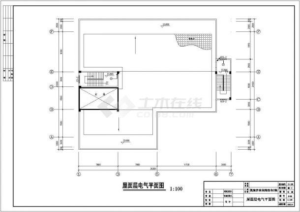 安徽省天长市凯旋宫宿舍C栋电气设计图.防雷图(含效果图,平面图)-图一