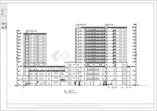 36001.35平米住宅楼建筑设计施工图-图一
