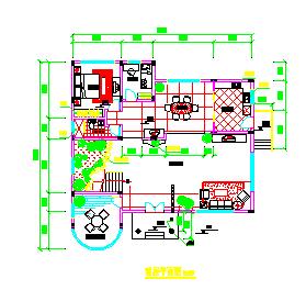 某经典别墅方案建筑cad设计图-图二