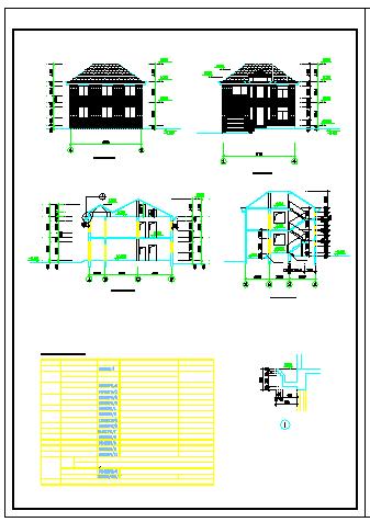 某经典别墅建筑施工cad设计图纸-图二