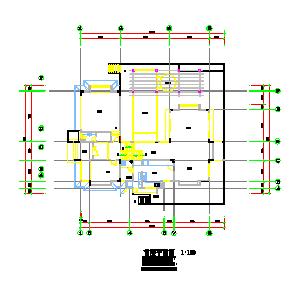 六款经典别墅建筑设计cad施工图-图二
