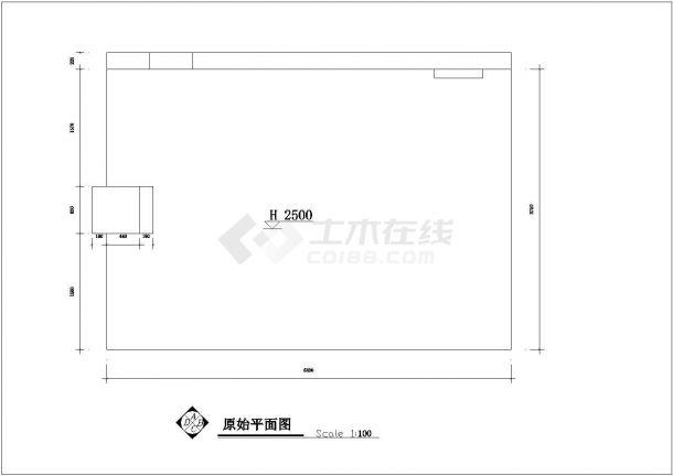 安徽省合肥市某童装店室内设计装修cad施工设计图-图一