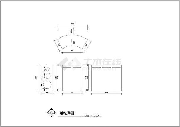 安徽省合肥市某童装店室内设计装修cad施工设计图-图二