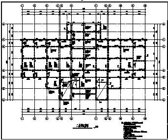 住宅楼设计_某市六层框架结构住宅楼全套结构施工cad图纸-图一
