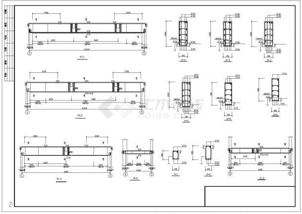湖北省荆门市某幼儿园框架结构cad施工设计图-图一
