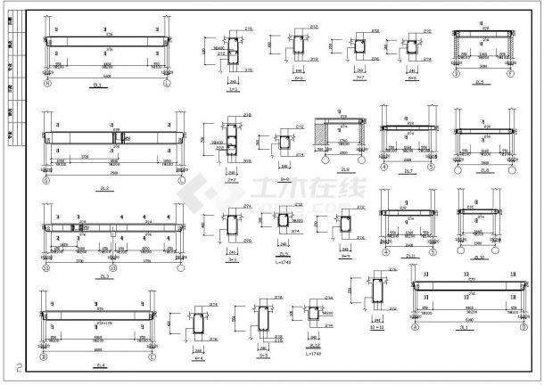 湖北省荆门市某幼儿园框架结构cad施工设计图-图二