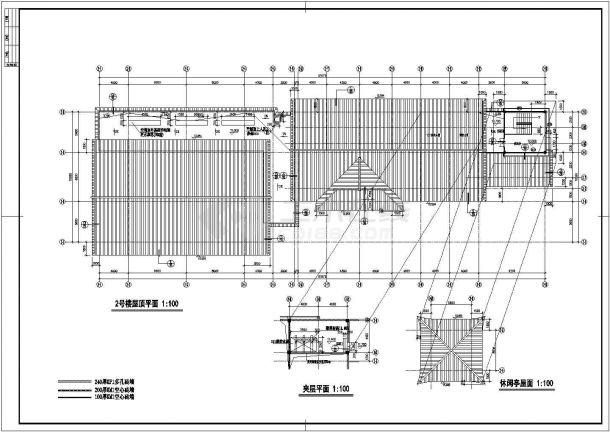 太湖古建筑全套建筑设计施工图-图一
