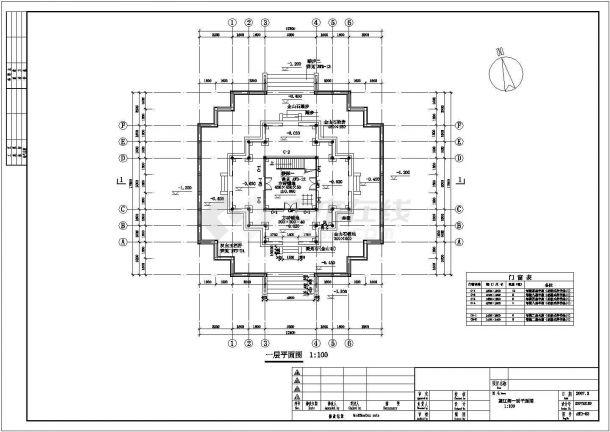 公园仿古建筑全套设计施工图-图一