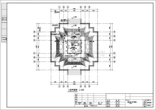 公园仿古建筑全套设计施工图-图二