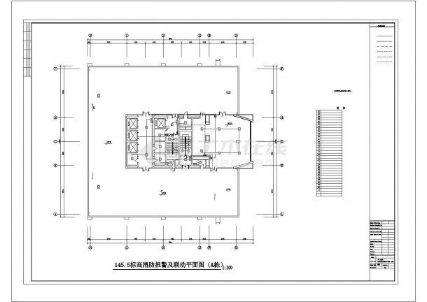 水箱间消防报警电气设计图-图一