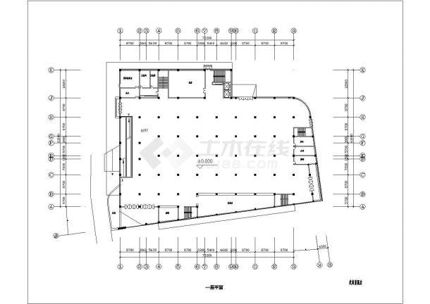 某仓储商场中央空调整套设计cad施工图-图一