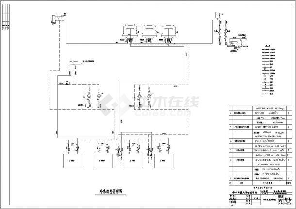 某仓储商场中央空调整套设计cad施工图-图二