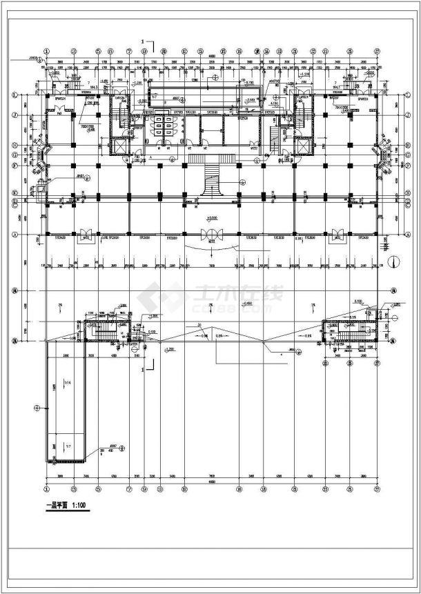 长沙市某小区1.3万平米18层框架结构住宅楼建筑设计CAD图纸(含阁楼)-图一