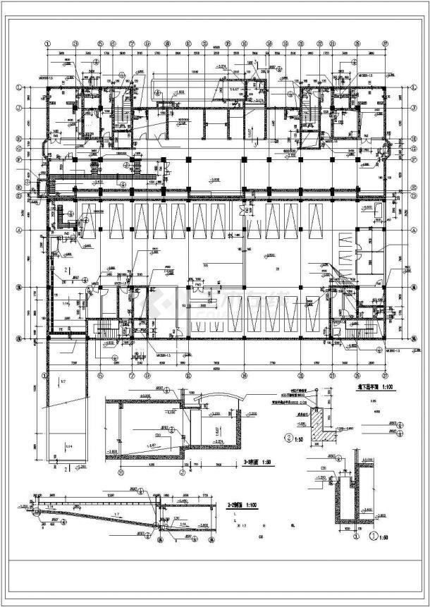 长沙市某小区1.3万平米18层框架结构住宅楼建筑设计CAD图纸(含阁楼)-图二
